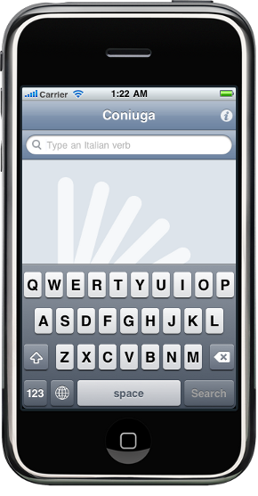 Coniuga, Italian verbs on your iPhone, iPad and Nokia N9