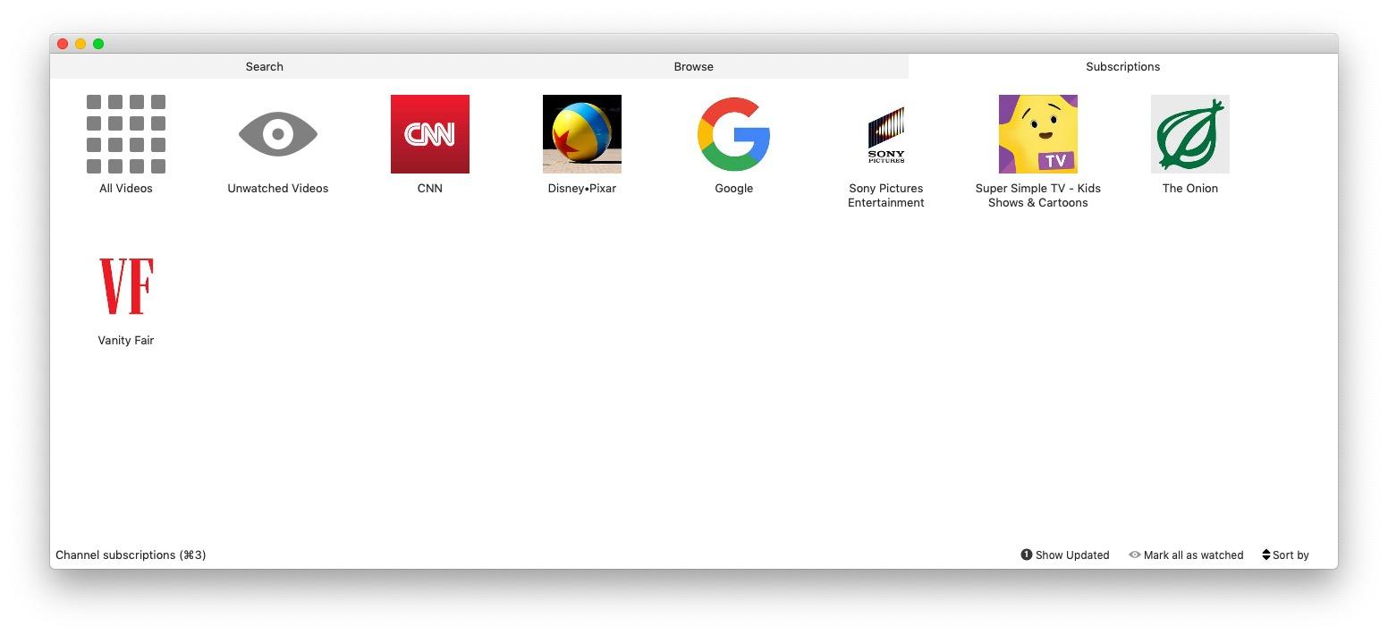 Minitube, YouTube app for Mac, Windows and Linux