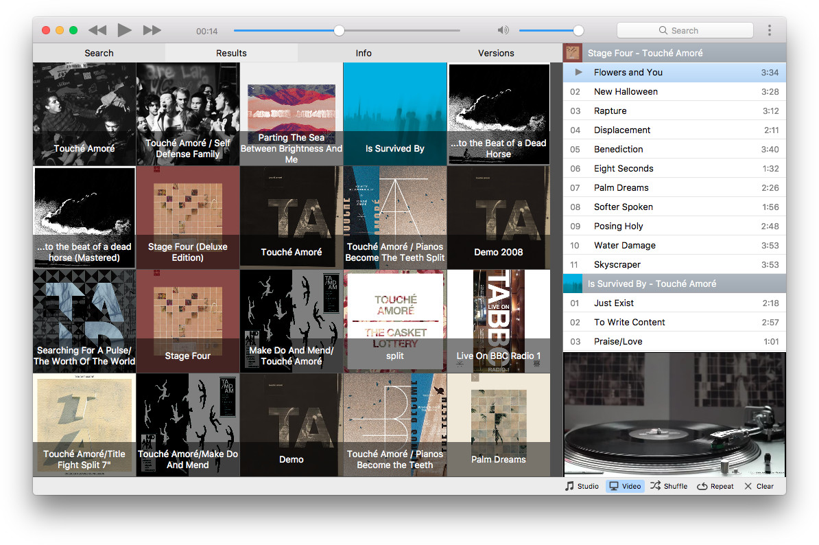 Musictube, YouTube streaming music player for Mac, Windows