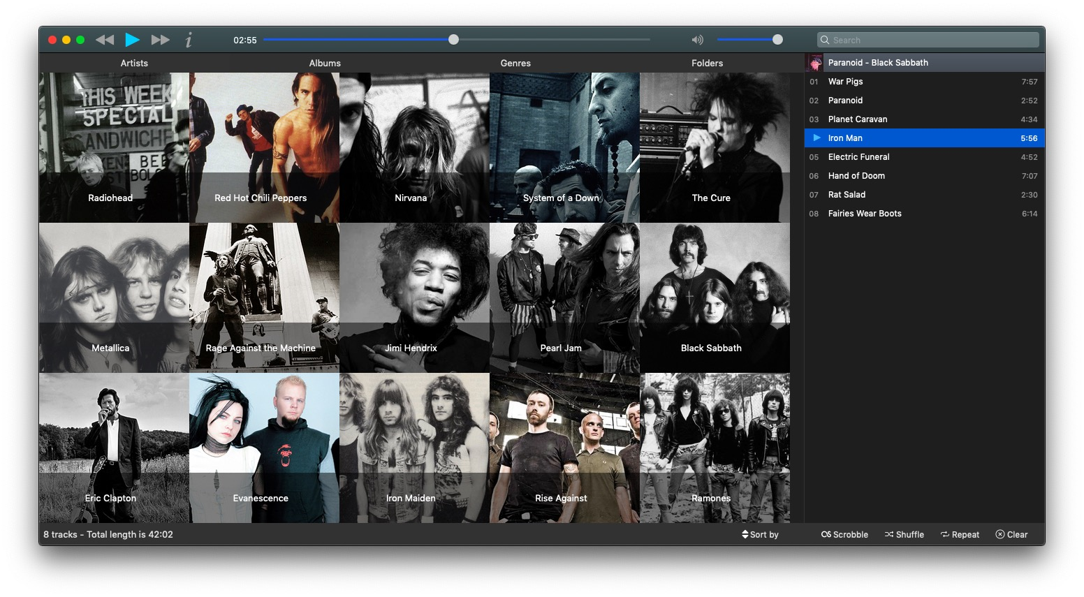 Musique, music player for Mac, Windows and Linux